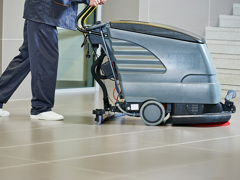 Industrial Floor Scrubbing & Stripping Services, Commercial Janitorial & Office Cleaner Brampton - New Look Maintenance